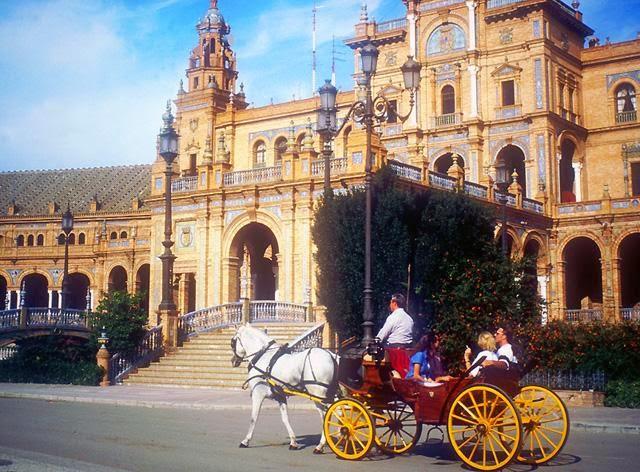 El Parque María Luisa visto desde un coche de caballos